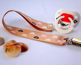 Pacifier clip girl, Baby pacifier holder, Soothie pacifier clip, Paci clip for girls