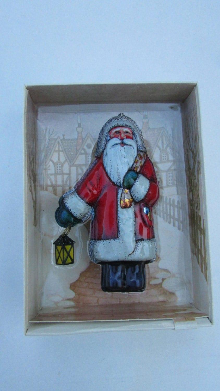Vintage Hallmark Ornament St Nicholas Old Saint Nick Santa