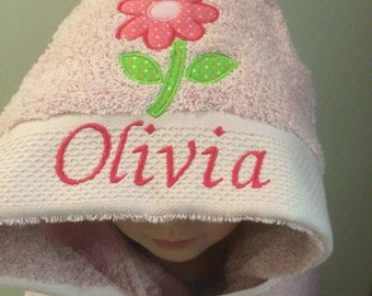 Hooded Baby Towel, Personalized gift for girl or boy.