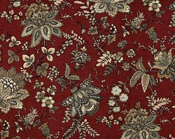 Constantine Ruby cotton fabric by the yard Magnolia Home Fashions