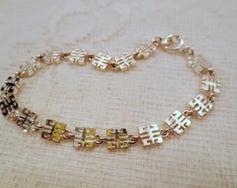 Vintage Givenchy Bracelet, Silver Tone Multiple Logos, Designer Bracelet, Vintage jewellery, Runway, Couture