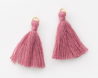 4002361 / Pale Violet Red / Mini Thread Tassel 6mm x 37mm / 0.5g / 150strands / 2pcs