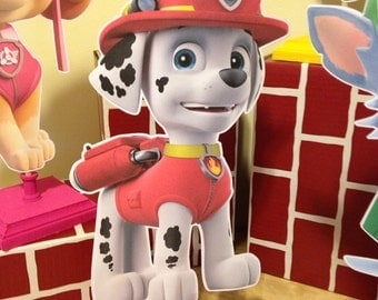 Paw Patrol Characters on Dowel Rods -No Bases included