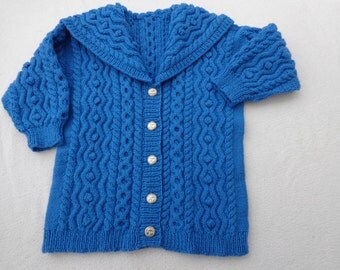 Cable Knit Cardigan with Shawl Collar size 6