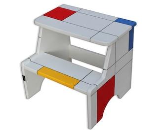 popular items for wooden step stool on etsy. Black Bedroom Furniture Sets. Home Design Ideas