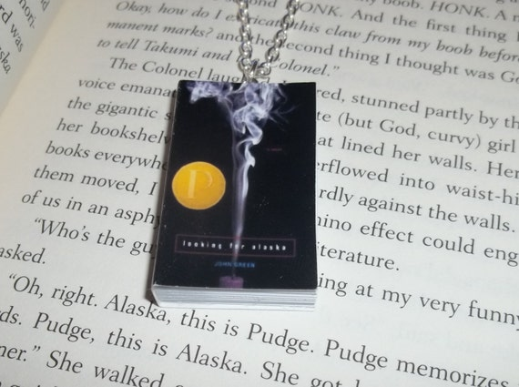 Looking for Alaska by John Green Miniature Book Necklace or Bookmark - Nerdfighter, Vlogbrothers, Hank Green
