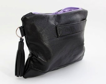 SALE* Black Leather Clutch Bag/Purse