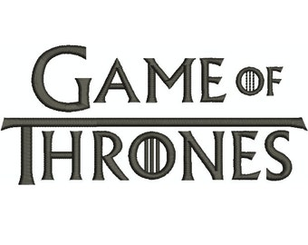 """Machine Embroidery Design Instant Download - """"Game of Thrones"""" Logo"""