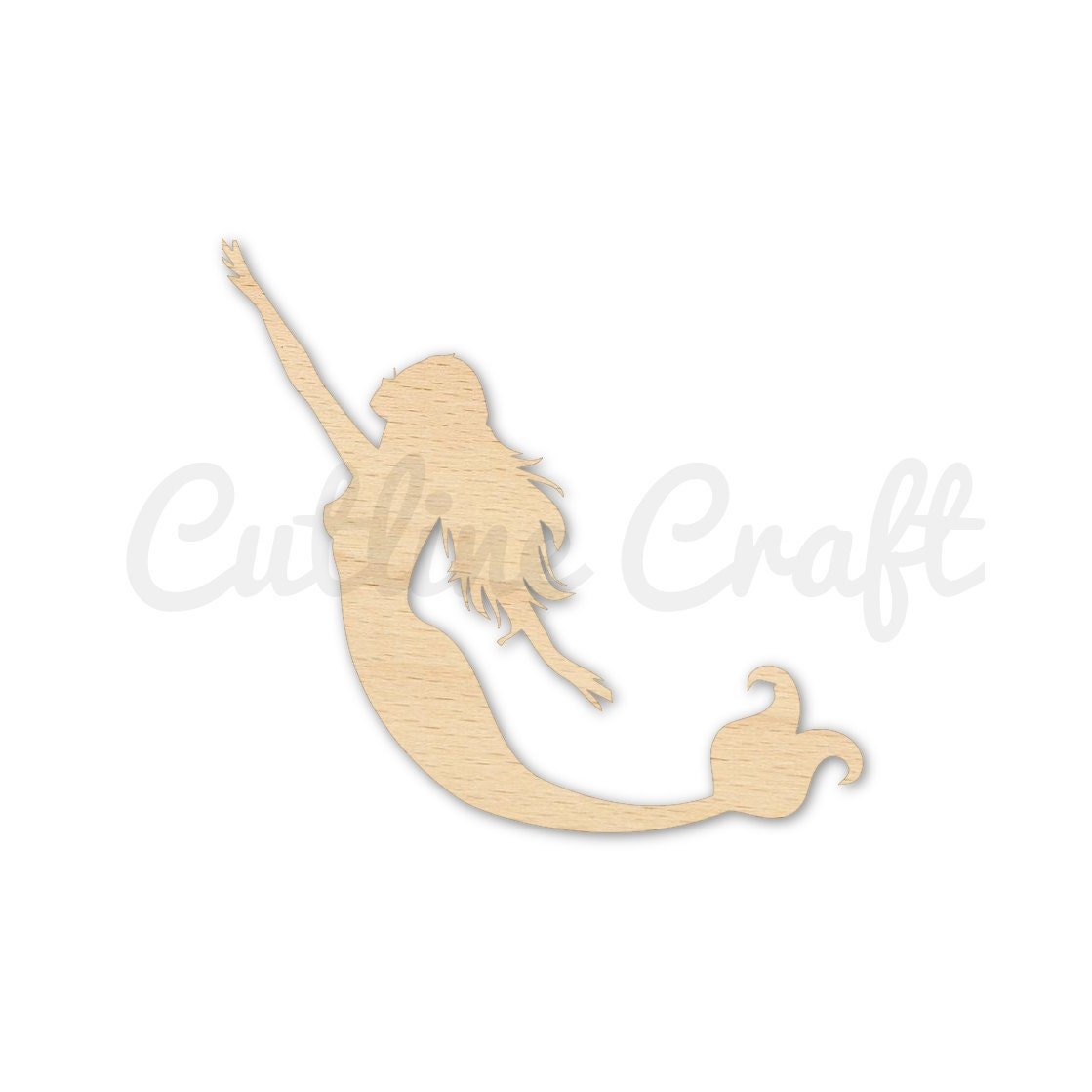 Mermaid Glide 1524 Cutout Shape Gift Tags Ornament