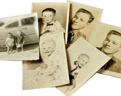 Vintage Sepia Photographs, Babies, Toddlers, Boys, Men, Ephemera, Scrapbooking