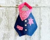 Sheriff Callie… Handmade Baby Bib