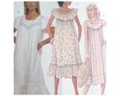 Uncut Vintage McCalls 3200 Misses Casual Pullover Dress MuuMuu Size 10-12