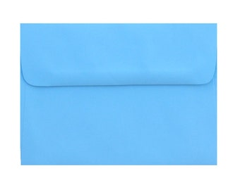 25 A6 Pastel Blue Envelopes - for 4x6 announcement and invitation   Great color