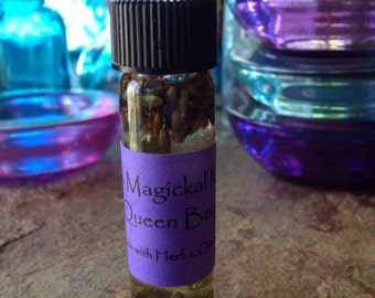 Queen Bee Oil, Hoodoo, Metaphysical, Magick, Voodoo, Pagan, Alchemy Cleanse, Conjure, Roots, Herbs, Spiritual Blend, Magic Oils