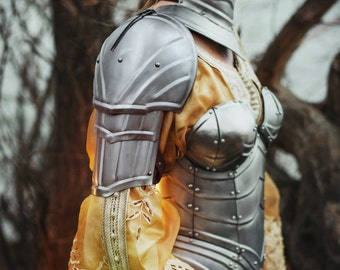 Steel Armor Pauldrons Queen of the Lake - Pair