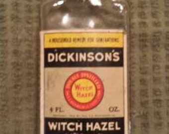 Vintage Witch Hazel Bottle