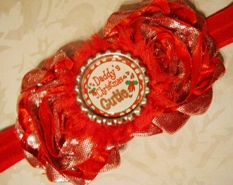 Daddy's Christmas Cutie - Christmas Headband for Baby Girls and toddlers
