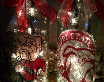 Mississippi State Bulldogs Bottle Lamp