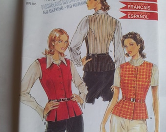 New Look Sewing Pattern 6523 Misses' waistcoat/vest in Size  8, 10, 12, 14, 16, 18