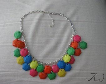 Mix Color Beads Statement Bib Necklace