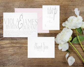 SIMPLE WEDDING INVITATION | Calligraphy/hand written | fully customizable