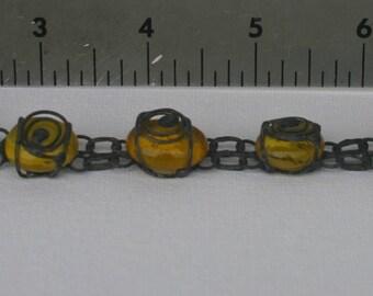 Stained glass bracelet.