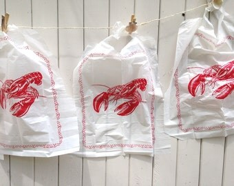 Lobster Banner Kit Lobster Bibs Seashell clothespins clambakes, lobster bake beach parties