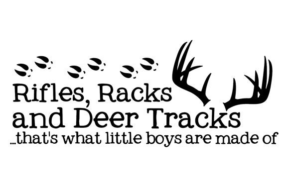 Hunting With Rifles Racks And Deer Tracks By Vinylcreator