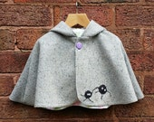 Soot Sprites Cape - Handmade with applique Soot Sprites / Gremlins, this cape is full of fun & character, with a hint of magic!