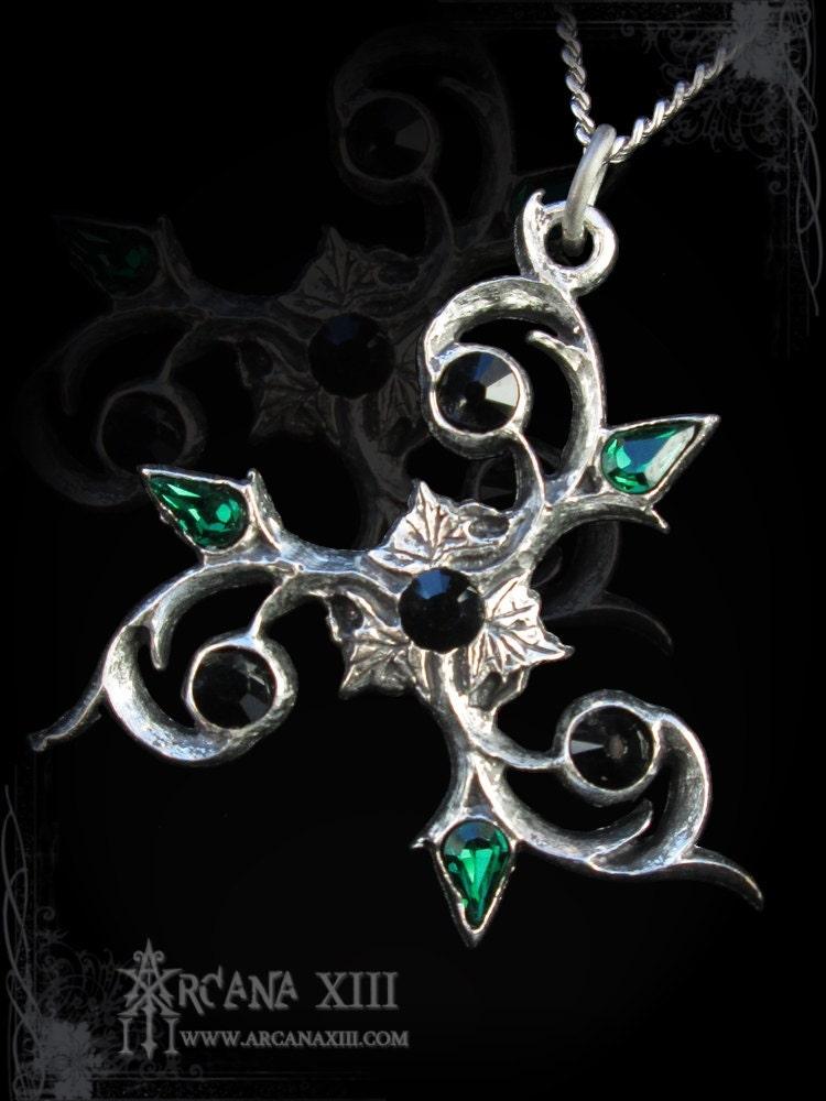 Handmade Gothic Harajuku Fashion W H Naoto Spiderweb Bag: Handmade Elven Triskel Pendant Gothic Pendant Celtic