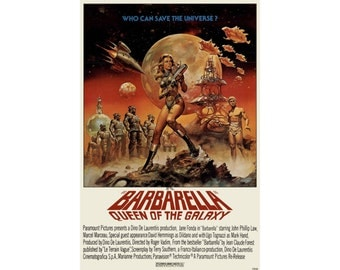 Barbarella - Vintage, Digitally Restored & Retouched Movie Poster