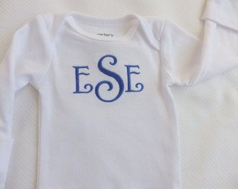 Baby Boy Coming Home from Hospital. Monogram Bodysuit. Baby Shower Gift