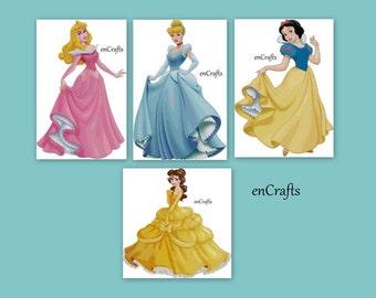 Disney Princesses Cross Stitch 4 Patterns