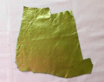 Metallic Green Cowhide Leather