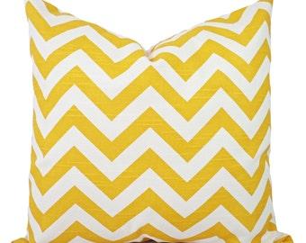 Two Yellow Pillow Covers - Yellow Pillow Covers - Yellow Throw Pillows - Decorative Throw Pillow - Yellow Pillows - Yellow Pillow Sham