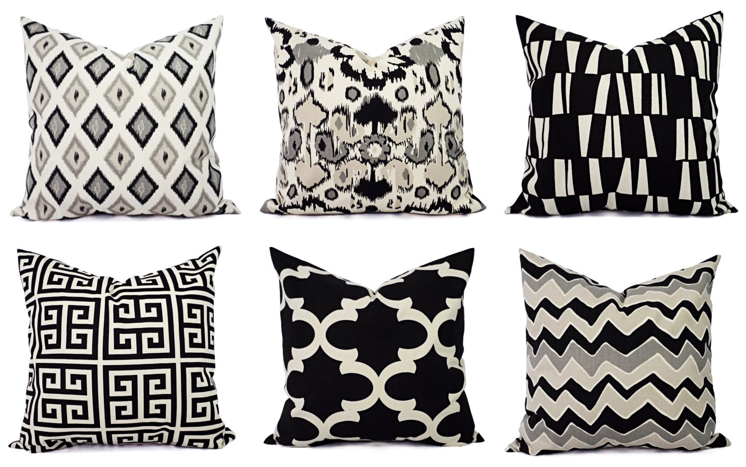 Black And Beige Decorative Pillows : Black Throw Pillow Cover Black and Beige Pillow Euro Sham