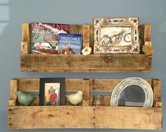 Recycled Pallet Shelves/Shelf