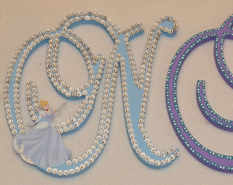 """11"""" - 18"""" Disney Princess Letter Set. Customize by Name, Colors and Characters!"""