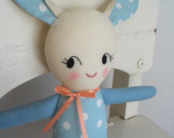 BABY TOY - Kawaii bunny plushie cloth doll softie plush toy - Made to order