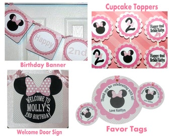 Minnie Mouse Birthday Package  - Minnie Mouse Birthday Decorations - Minnie Mouse Party Package
