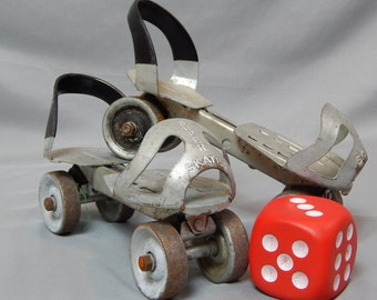 Super Skates - Awesome Patented Vintage Adjustable Metal Roller Skates - Children's Toy,  Circa 1950s