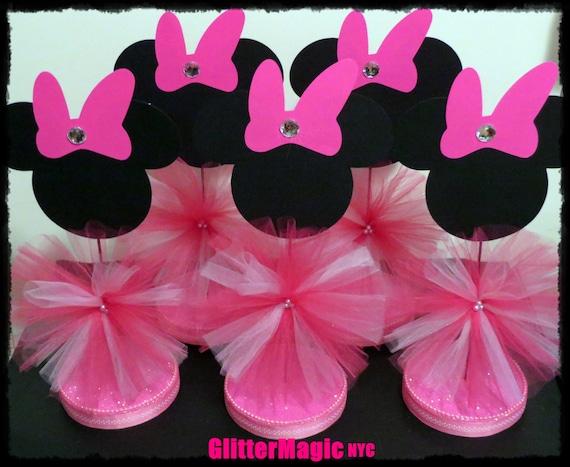 Centros de mesa para baby shower Minnie Mouse - Imagui