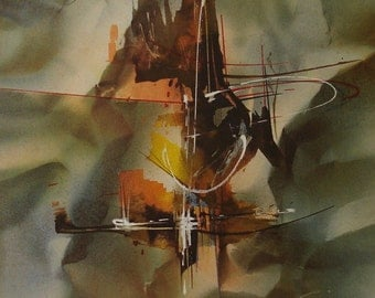 "Leonardo Nierman ""Space Dynamics"" Original Lithograph Artwork Signed & Numbered"