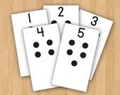 Digital Printable Montessori One to One Correspondence - Numbers 1-10