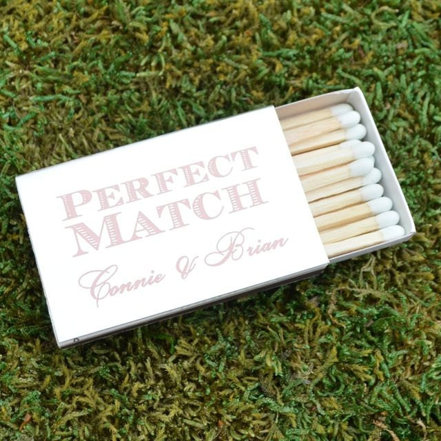 Perfect Match Personalized Wedding Matchboxes Custom Wedding