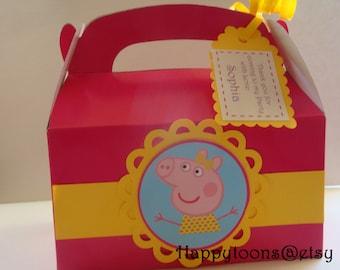 Peppa pig favor boxes - set of 12