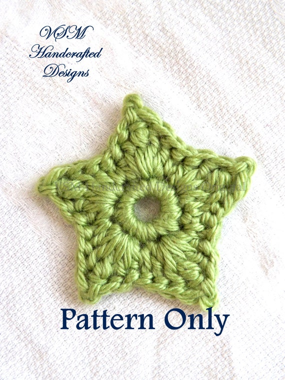 Small and Large Stars Applique Crochet Pattern Crochet Star