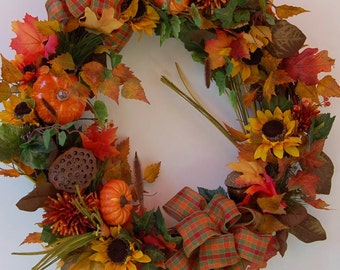"28"" Autumn Fall Wreath"