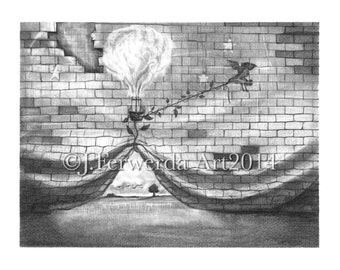 Pencil Drawing Print - Get Out There - Day 359