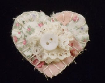 Quilted Heart Pin